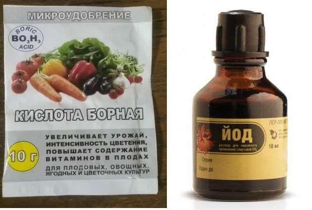Борная кислота и йод для томатов