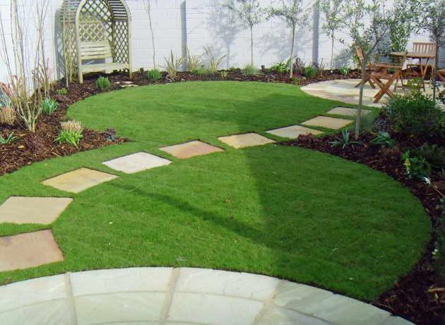 Газонная трава райграс пастбищный в ландшафтном дизайне фото