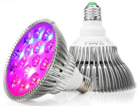 Круглая светодиодная фитолампа полного спектра