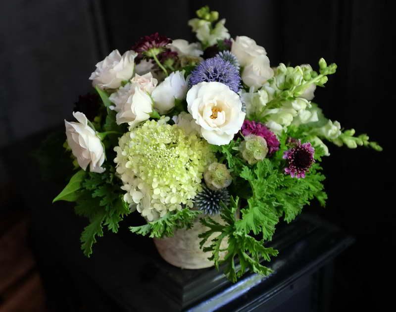 Скабиоза в букете фото цветов